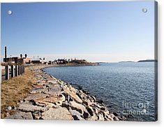 Deer Island Trail Acrylic Print by Extrospection Art