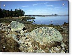 Deer Isle Granite Shoreline Acrylic Print by Thomas R Fletcher