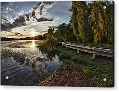 Acrylic Print featuring the photograph Deer Lake Boardwalk by Scott Holmes