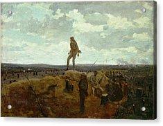 Defiance - Inviting A Shot Before Petersburg Acrylic Print by Winslow Homer