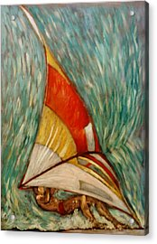 Acrylic Print featuring the painting Defying Gravity by Charles Munn