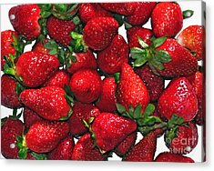 Deliciously Sweet Strawberries Acrylic Print by Kaye Menner