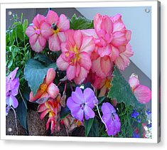 Acrylic Print featuring the photograph Delightful Potpourri Of Pastels by Frank Wickham