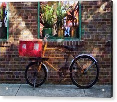 Delivery Bicycle Greenwich Village Acrylic Print by Susan Savad