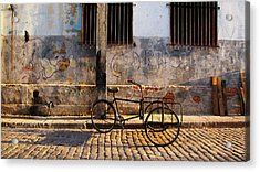 Delivery Bike Acrylic Print by Kimberley Bennett