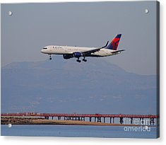 Delta Airlines Jet Airplane At San Francisco International Airport Sfo . 7d12182 Acrylic Print by Wingsdomain Art and Photography