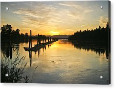 Acrylic Print featuring the photograph Delta Sunset by Albert Seger