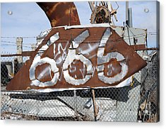 Demonic Humor At Industrial Site Haunted House Acrylic Print by Gary Whitton