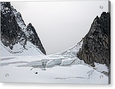 Acrylic Print featuring the photograph Denali Park Glacier by Gary Rose