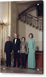 Deng Xiaoping Jimmy Carter Madame Zhuo Acrylic Print by Everett