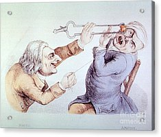 Dentistry Tooth Extraction 1810 Acrylic Print by Science Source