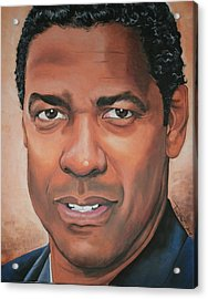 Denzel Washington Acrylic Print by Timothe Winstead