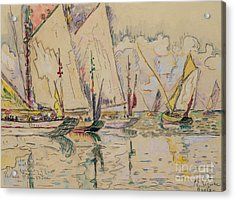 Departure Of Tuna Boats At Groix Acrylic Print by Paul Signac