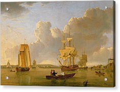 Deptford On Thames With A Distant View Of Greenwich Acrylic Print by John of Hull Ward