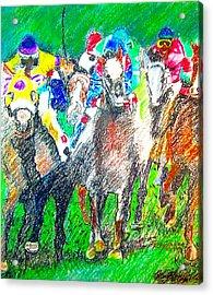 Derby Acrylic Print by Rom Galicia