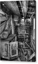 Derelict House Bw Acrylic Print by Thomas Zimmerman
