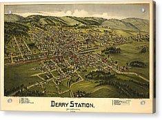 Derry Station Pennsylvania Acrylic Print by Donna Leach
