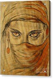 Desert Amber Acrylic Print by Iglika Milcheva-Godfrey