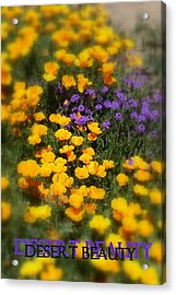 Acrylic Print featuring the photograph Desert Beauty by Carla Parris