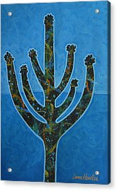 Acrylic Print featuring the painting Desert Blue by Lance Headlee