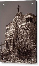 Desert Chapel Acrylic Print by Ken Stanback