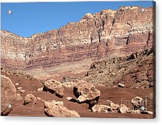 Desert Colors Acrylic Print by Bob and Nancy Kendrick