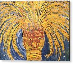 Desert Date Palm Tree Acrylic Print