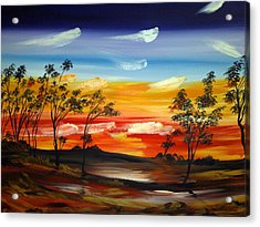Acrylic Print featuring the painting Desert Fire by Roberto Gagliardi