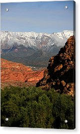 Acrylic Print featuring the photograph Desert Foothills II by Marta Alfred