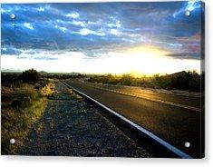 Desert Highway Acrylic Print by Anthony Citro