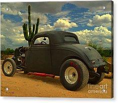 Desert Hot Rod Acrylic Print by Jerry L Barrett