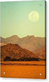 Desert Moonrise Acrylic Print