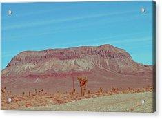 Desert Mountain Acrylic Print by Naxart Studio