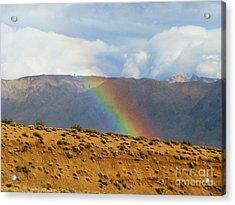 Desert Rainbow Acrylic Print by Michele Penner