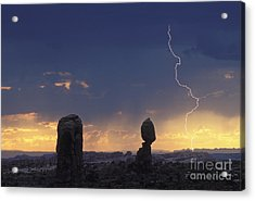 Desert Storm - Fs000484 Acrylic Print by Daniel Dempster