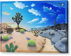 Desert Timeline Acrylic Print by Snake Jagger