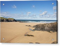 Acrylic Print featuring the photograph Deserted Beach by Paul Scoullar
