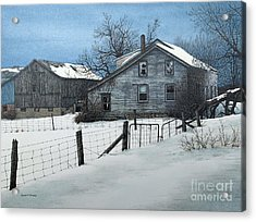 Deserted Farm Prince Edward County Acrylic Print