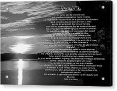 Acrylic Print featuring the photograph Desiderata by George Bostian