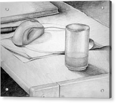 Desk Acrylic Print by Morka Mold