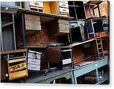 Desk Scrap Acrylic Print by Carlos Caetano