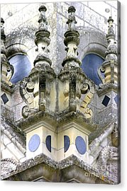 Detail Chambord Castle Acrylic Print by Anne Gordon
