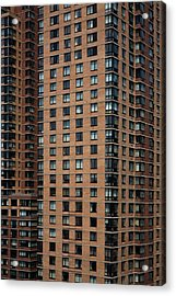 Detail Of High Rise-buildings, Manhattan, New York City, Usa Acrylic Print by Frederick Bass