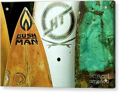 Detail Surfboard Fence Acrylic Print by Bob Christopher