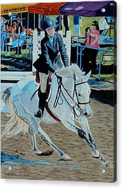 Determination - Horse And Rider - Horseshow Painting Acrylic Print