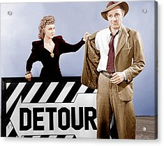 Detour, From Left Ann Savage, Tom Neal Acrylic Print by Everett