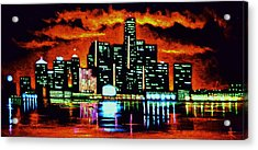 Detroit In Black Light Sold Acrylic Print
