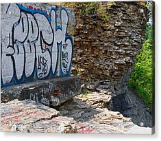 Devils Punch Bowl Grafitti 2 Acrylic Print