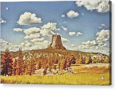 Devils Tower Acrylic Print by Maciek Froncisz