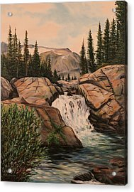 Dewey Falls Acrylic Print